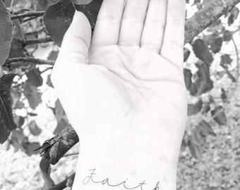 Faith Temporary Tattoo