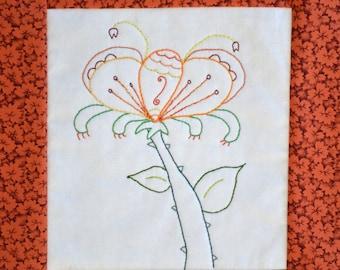 "PDF Embroidery Pattern ""Sunnystalk"""