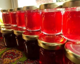 100 Mini Wedding  shower Jam  Jelly Favors   Strawberry, Carmel Apple, Lots of flavors!