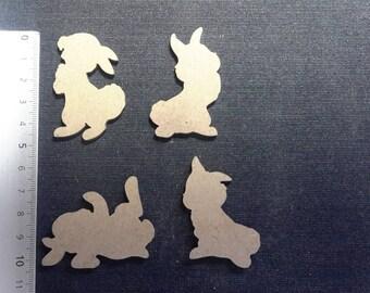 Set of 4 bunnies Thumper 5 cm