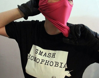 t-shirt, smash homophobia, unicorn, queer, lgbt