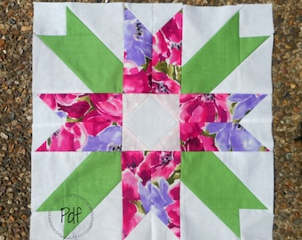 Sashway Quilt block pdf pattern