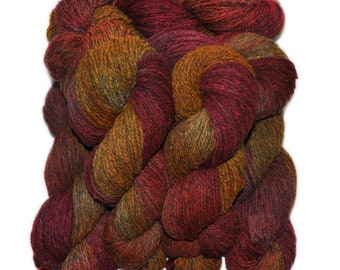 Hand dyed yarn - Alpaca / American wool yarn, Worsted weight, 240 yards - Inti