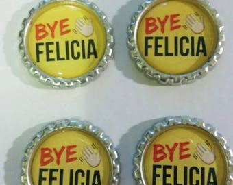Bye Felicia Bottlecap Refrigerator Magnets - Gifts