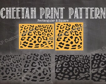 Cheetah Animal Print Pattern Cut File SVG Personal Use Only