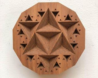 """Layered Wood: Wall Art (4"""" x 4"""")"""