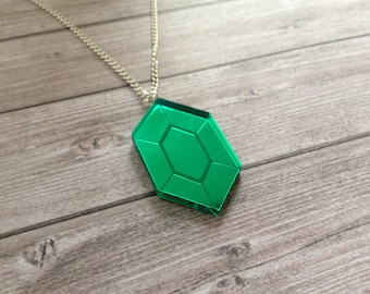 Zelda green rupee necklace - The Legend of Zelda, Nintendo, Breath of the Wild, geek, cute, japanese, Link, Ganondorf, lasercut acrylic
