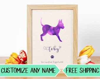 P06 Custom Dog Silhouette Personalized Pet Art