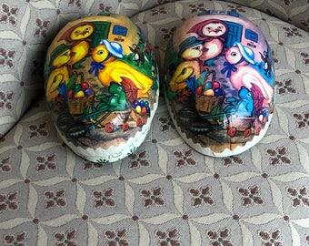 Vintage Giant German Paper Mache Easter Egg