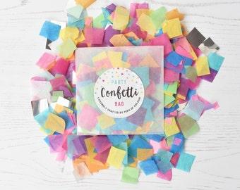 Rainbow Bright Confetti, Multicolour Confetti, Rainbow Party Decorations, Unicorn Party, Party Confetti Bag