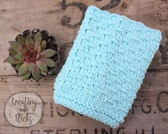 Knitting Pattern- Woven Dishcloth, PDF Downloadable Knitting Pattern, Printable Knitting Pattern, Dishcloth Knitting Instructions, Washcloth