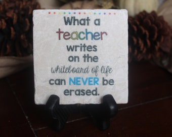 Teacher Gift Tile and Stand