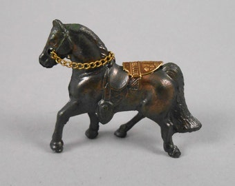 Cast Metal Horse with Saddle Souvenir of Gettysburg PA