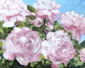Roses Acrylic Painting, Original Painting, Flowers painting, floral painting, Original art, impressionist art