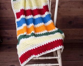 Baby blanket, Crib blanket, stroller blanket, small afghan, crotcheted