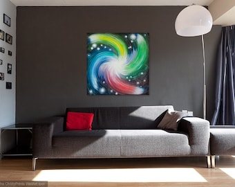 Abstract space painting Space art Galaxy art Spiral painting Space oil painting Galaxy painting Original Abstract Oil Painting on canvas