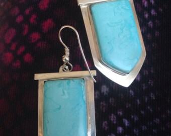"""Sterling Silver Turquoise Earrings, Dangle Earrings, Sons of Anarchy """"Wendy's"""" Earrings"""