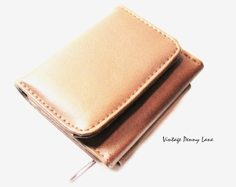 Mini Brown Wallet / Vintage Coin Purse