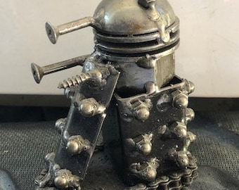 Hand Made DALEK Dr. Who-E 4 Inches Recycled Scrap Metal