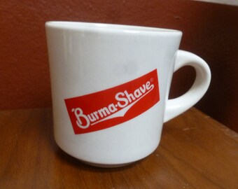 Vintage Burma-Shave mug by S S China