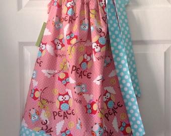 Ready to Ship! Size 6 Owls Pillowcase Dress