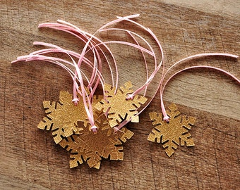 Winter Onederland Party Favor Tags 10CT.   Handcrafted in 2-5 Business Days. Snowflake Gift Tags.