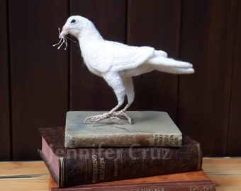 Bird sculpture, needle felted bird,textile bird,dove