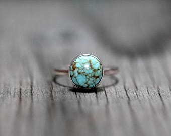 Nevada Number Eight Turquoise Ring - Your Size - Sterling Silver - Made to Order