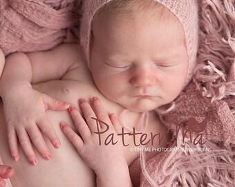 Knit Baby Hat Pattern Lace Mohair Bonnet #32