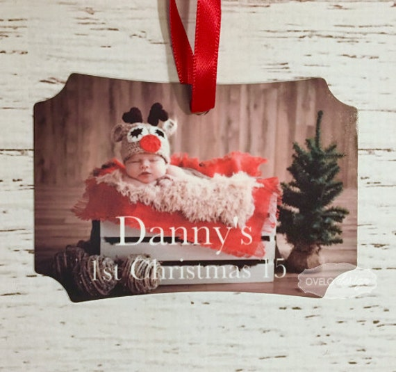 Christmas Tree Custom Personalized Picture Ornament