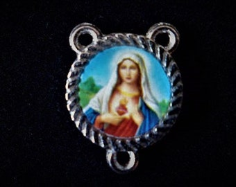 Marie 17 x 12 mm heart Rosary connector