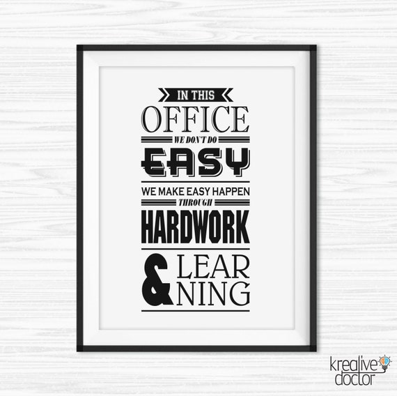 Office Wall Art Motivational Poster Inspiration Canvas Quotes Motivational  Wall Decor Printables For Office Quotes The Office Poster