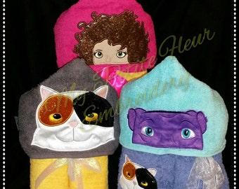 5x7 Tippy, Purple O, Pigitty Cat Design plus 4x4 Pigitty Cat