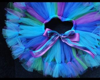 Peacock Tutu Skirt   Birthday Tutus   Flower Girl Tutu