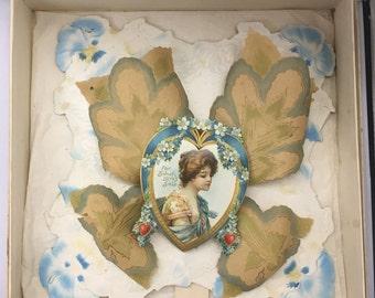 Antique Victorian Valentine Card 1904