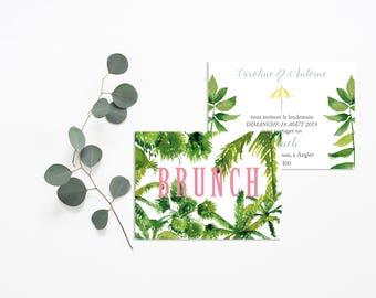 Palm Springs Wedding brunch invitation - Wedding Brunch Invitation - Cactus Wedding Invitation - Cactus Brunch - Cactus Wedding - Desert