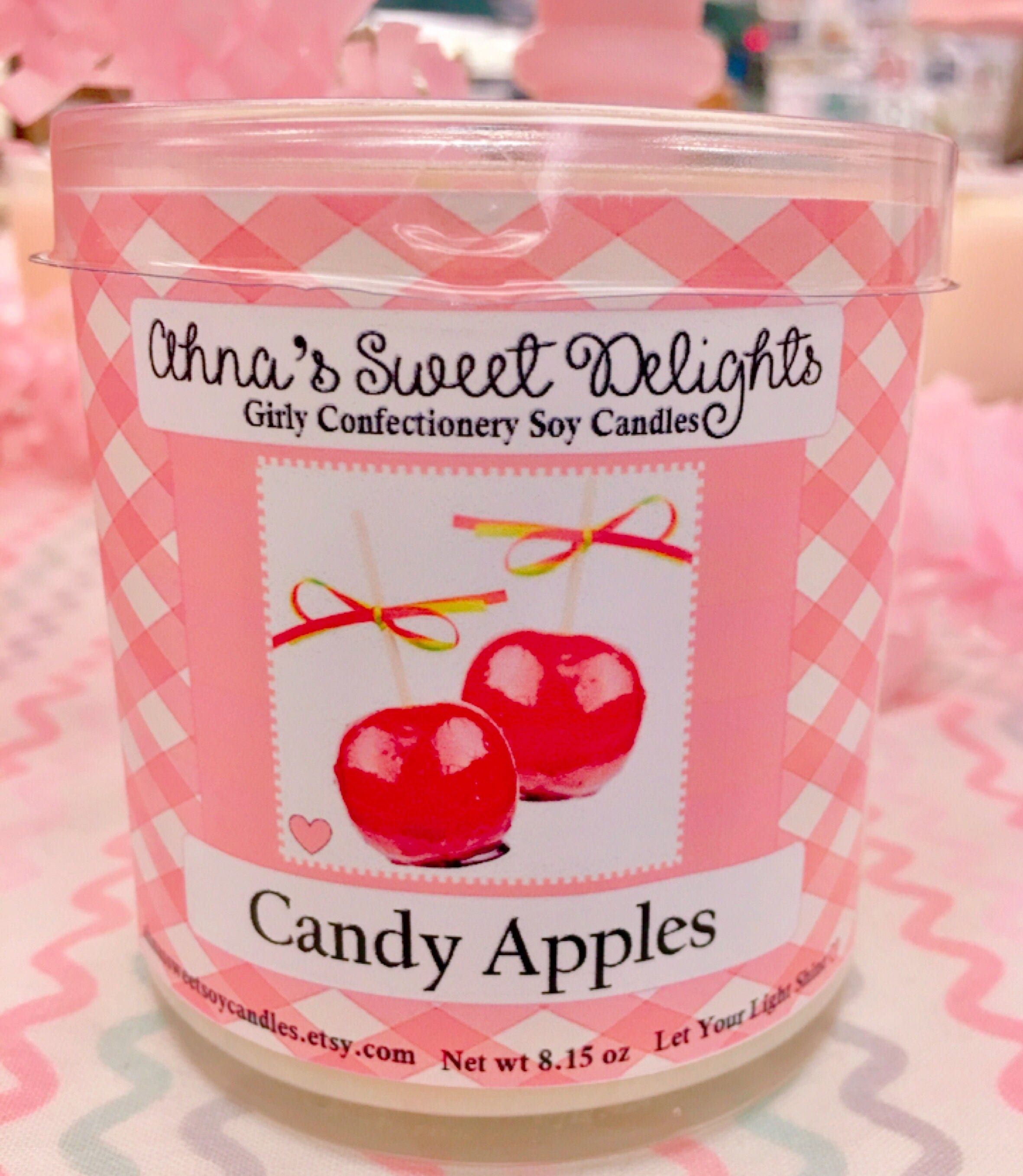 Candy Apples Girly Confectionery Soy Candle