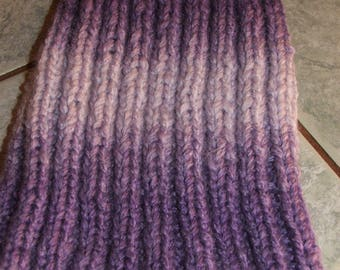 Purple Hat faded effect - 2/2 sides - handmade