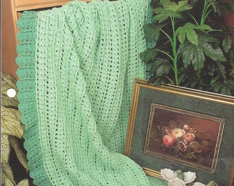 Pattern Afghan Blanket Crochet Better Than Mile-A-Minute - Annie's Crochet Quilt Afghan - Home Decor, Bedspread, Couch Sofa Throw, Bedding