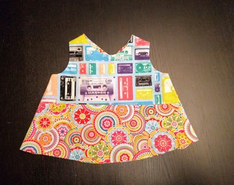 Reversible Cassette Dress 3 to 9 months