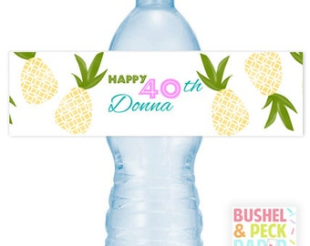 Pineapple Party #Bottle #Labels