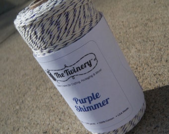 FULL SPOOL - Bakers Twine - Twinery Twine - 100% Cotton - Purple Shimmer - 240 Yards