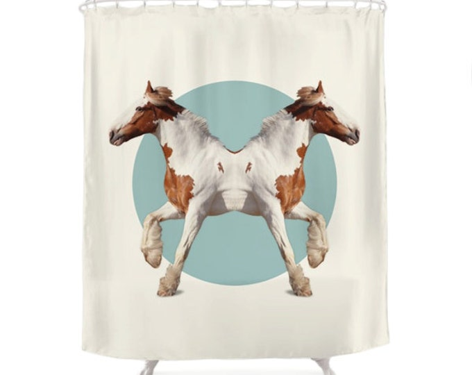 Horses Shower Curtain - Double Animals