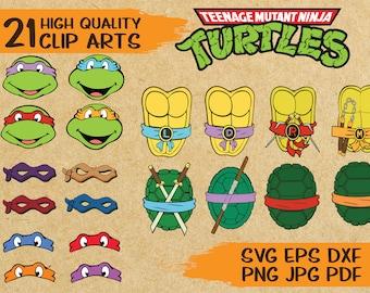 21 Teenage Mutant Ninja Turtles Clip Arts | SVG cut file | vector | printable | iron on