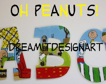 Oh Peanuts! Alphabet Wall Letters