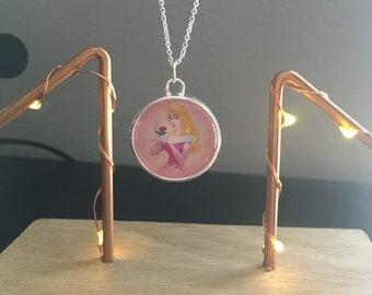 Disney Princess Aurora Sleeping Beauty Pendant Necklace