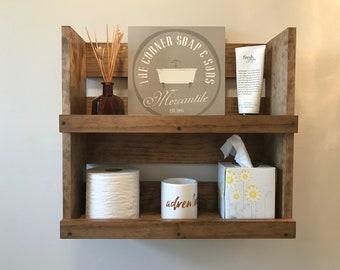 Bathroom Shelf Wall Mounted, Bathroom Storage Modern Wood Shelves, Wall Bathroom  Shelf, Bathroom Organizer Decor TP Storage Cosmetics Shelf