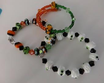 Beaded Halloween Bracelets