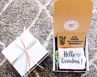Hello Grandma, Pregnancy Reveal to Family - Going to Be a Grandma- Pregnancy Announcement Ideas