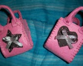Small bags fabrics pink f...